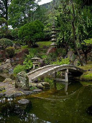 Photograph - Japanese Garden Maui Hawaii by Waterdancer
