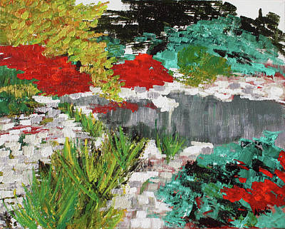 Painting - Japanese Garden Norfolk Botanical Garden 201819 by Alyse Radenovic