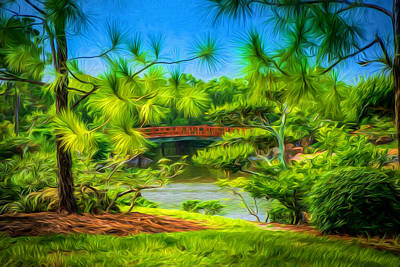 Digital Art - Japanese Gardens  by Louis Ferreira
