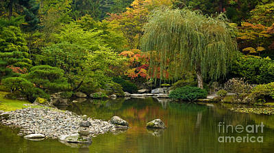 Fall Colors Photograph - Japanese Gardens by Mike Reid