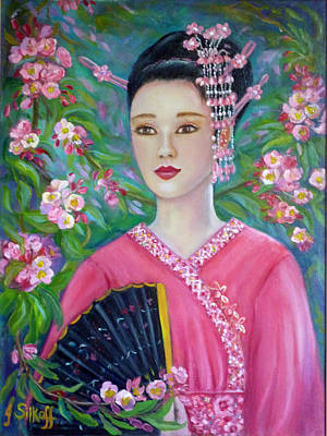 Painting - Japanese Girl by Janet Silkoff