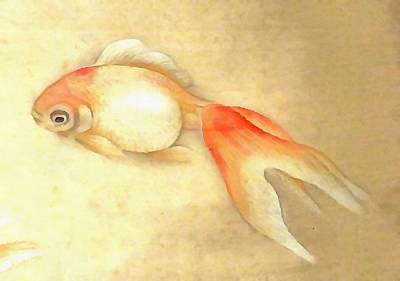 Painting - Japanese Goldfish by Tracey Harrington-Simpson
