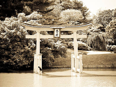 Japanese Hill And Pond Garden New York Art Print