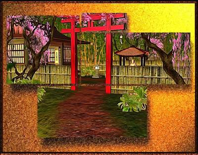 Digital Art - Japanese Home Welcome by Mario Carini