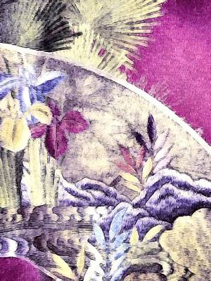 Photograph - Japanese Iris - Kimono Series by Susan Maxwell Schmidt