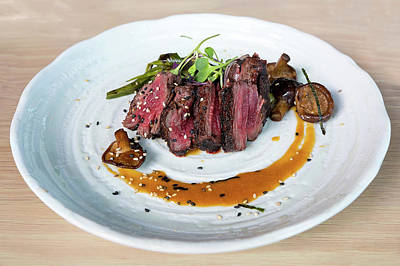 Photograph - Japanese Kobe Beef Steak With Ponzu Sauce by Jit Lim