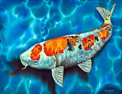 Reef Fish Painting - Japanese Koi by Daniel Jean-Baptiste