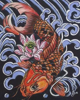 Painting - Japanese Koi by Kim Selig