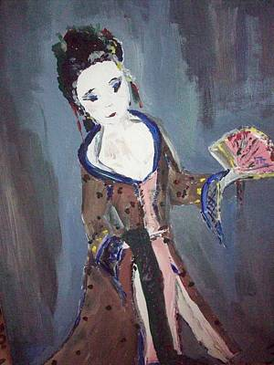 Art Print featuring the painting Japanese Lady by Judith Desrosiers