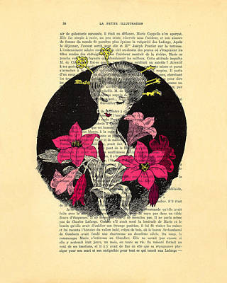 Clip-art Digital Art - Japanese Lady With Cherry Blossoms by Madame Memento