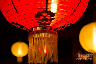 Photograph - Japanese Lantern 1 by Steven Hendricks