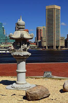 Photograph - Japanese Lantern In Baltimore by James Kirkikis