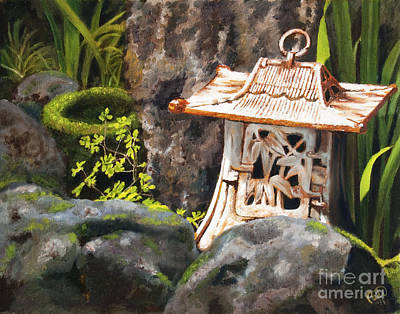 Oneal Painting - Japanese Lantern by Pati O'Neal