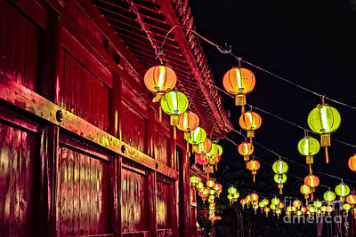 Photograph - Japanese Lanterns 10 by Steven Hendricks