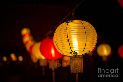 Photograph - Japanese Lanterns 3 by Steven Hendricks