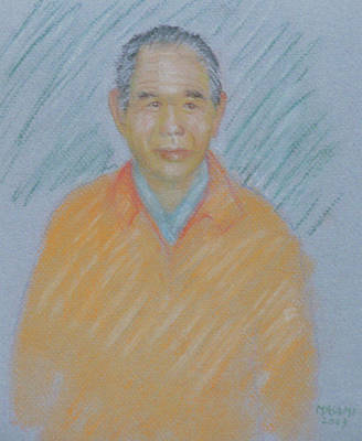 Pastel - Japanese Man by Masami Iida