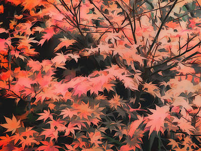Digital Art - Japanese Maple - Nature Art by Ann Powell
