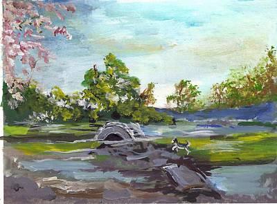 Painting - Japanese Park Hilo by Karen Ferrand Carroll
