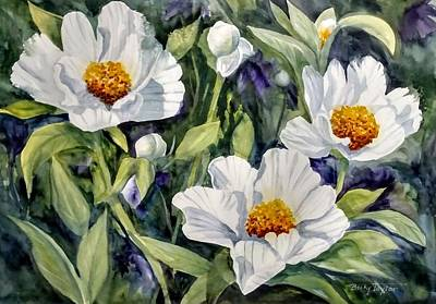 Painting - Japanese Peonies by Becky Taylor