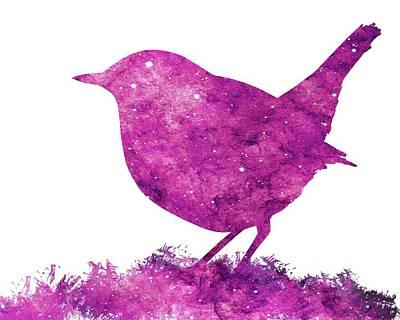 Digital Art - Japanese Robin Bird by Konstantin Kolev