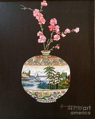 Painting - Japanese Satsuma Vase by Jennifer Lake