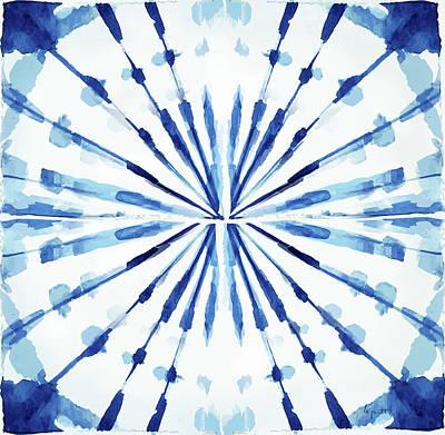 Digital Art - Japanese Shibori - Indigo 2 by Kimberly Potts