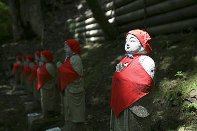 Photograph - Japanese Statues by Marcus Best
