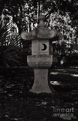 Photograph - Japanese Stone Lantern In Bw by Craig Wood