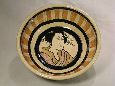 Ceramic Art - Japanese Style Bowl by Deirdre DeLay