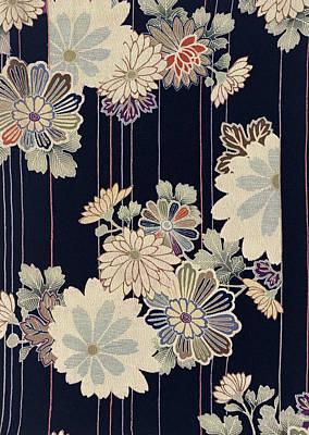 Chrysanthemum Wall Art - Tapestry - Textile - Japanese Style Flower Modern Interior Art Painting. by ArtMarketJapan