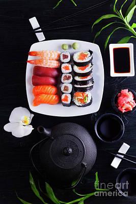 Photograph - Japanese Sushi  by Anastasy Yarmolovich