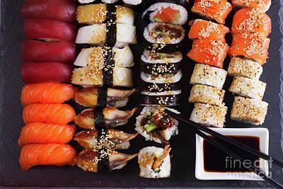 Photograph - Japanese Sushi Dish by Anastasy Yarmolovich