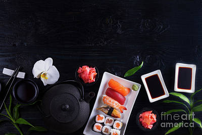 Photograph - Japanese Sushi Dish II by Anastasy Yarmolovich