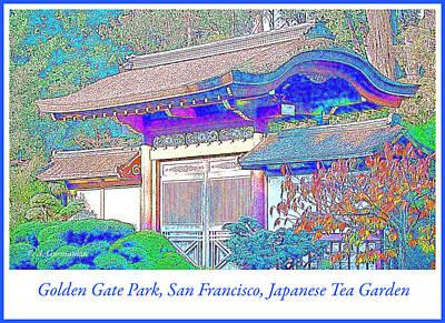 Digital Art - Japanese Tea Garden, Golden Gate Park, San Francisco by A Gurmankin