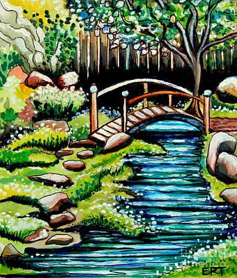 Japanese Tea Garden Painting - Japanese Tea Gardens by Elizabeth Robinette Tyndall