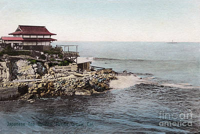 Photograph - Japanese Tea Graden, Pacific Grove, Cal. Circa 1905 by California Views Mr Pat Hathaway Archives