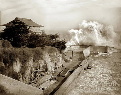 Photograph - Japanese Tea House And Pier At Lovers Point Circa 1907 by California Views Archives Mr Pat Hathaway Archives