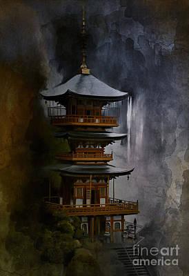 Digital Art - Japanese Temple. by Andrzej Szczerski