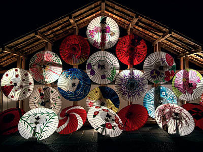 Photograph - Japanese Temple Umbrellas by Daniel Hagerman
