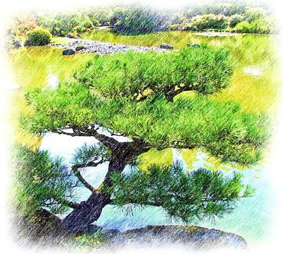 Japanese Tree Art Print by Ralph Liebstein
