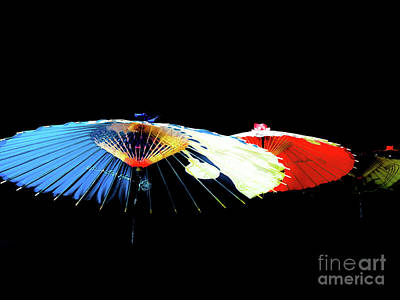 Photograph - Japanese Umbrellas Assorted Colors by Camille Pascoe