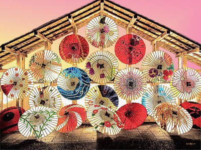 Photograph - Japanese Umbrellas by Ericamaxine Price
