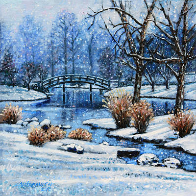 Painting - Japanese Winter by John Lautermilch