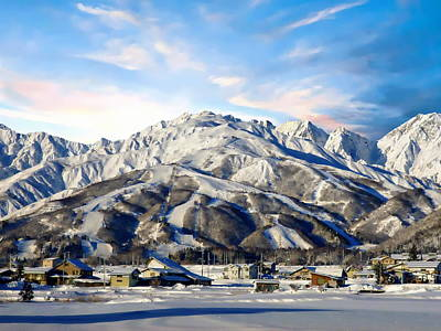 Photograph - Japanese Winter Resort by Anthony Dezenzio