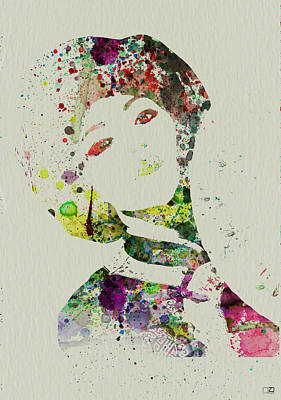 Singing Painting - Japanese Woman by Naxart Studio