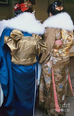 Photograph - Japanese Women In Kimono Photography - Two Bijin by Sharon Hudson