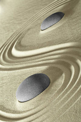Photograph - Japanese Zen Garden Stones - Meditation by Dirk Ercken