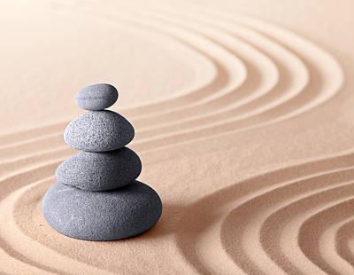 Japanese Zen Meditation Garden Art Print by Dirk Ercken