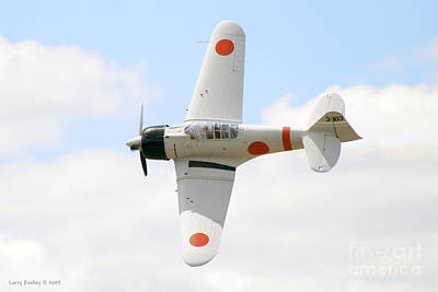 Art Print featuring the photograph Japanese Zero by Larry Keahey