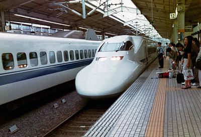 Photograph - Japan's Famous Bullet Trains by Dianne Levy